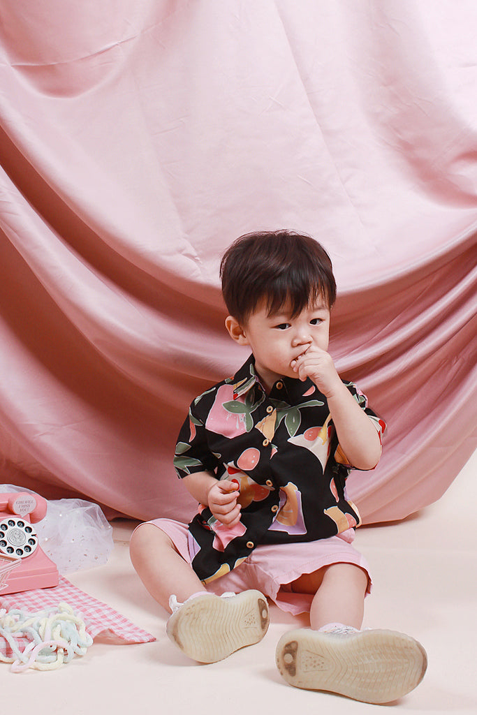Paige Kids Fruity Abstract Shirt - Black [18M/2Y/3Y/4Y/5Y]