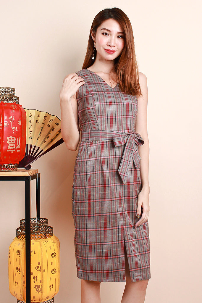 Juniper Plaid V-neck Dress - S/M/L/XL