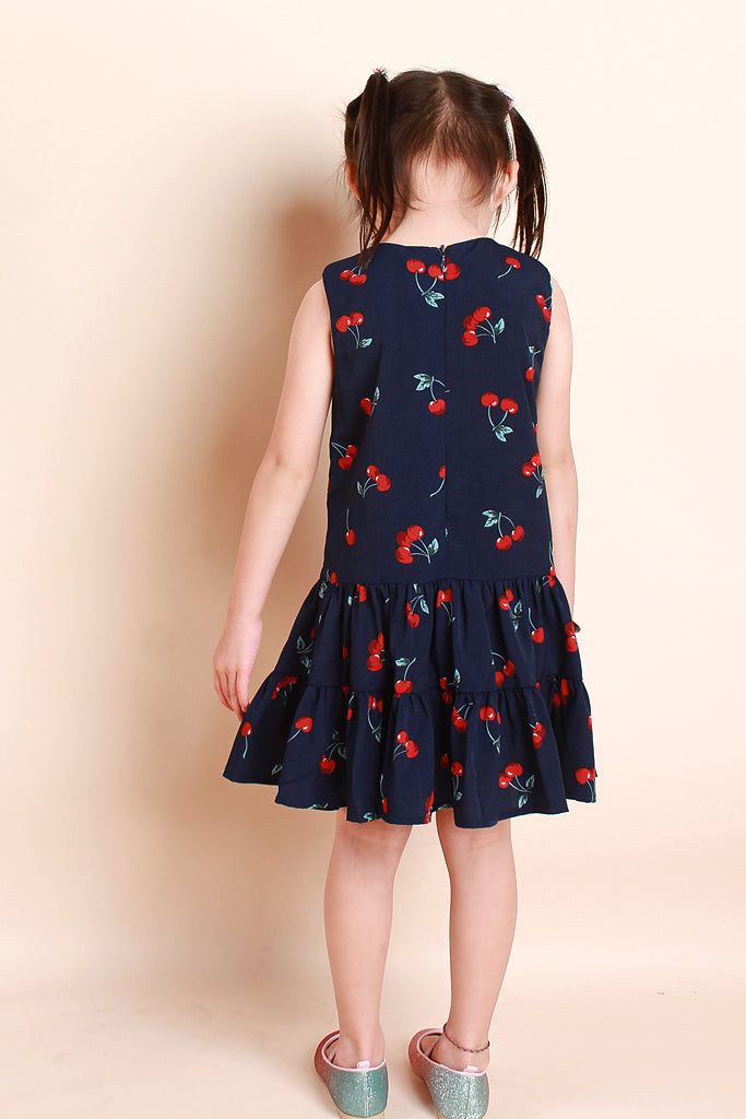 Dior Kids Cherry Print Dress - Navy [12M/18M/2Y/3Y/4Y/5Y/6Y]