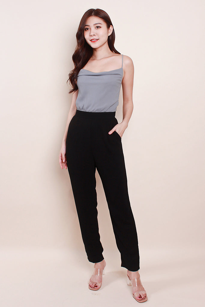 Willa Colourblock Cowl Neck Jumpsuit - Grey [S/M/L]
