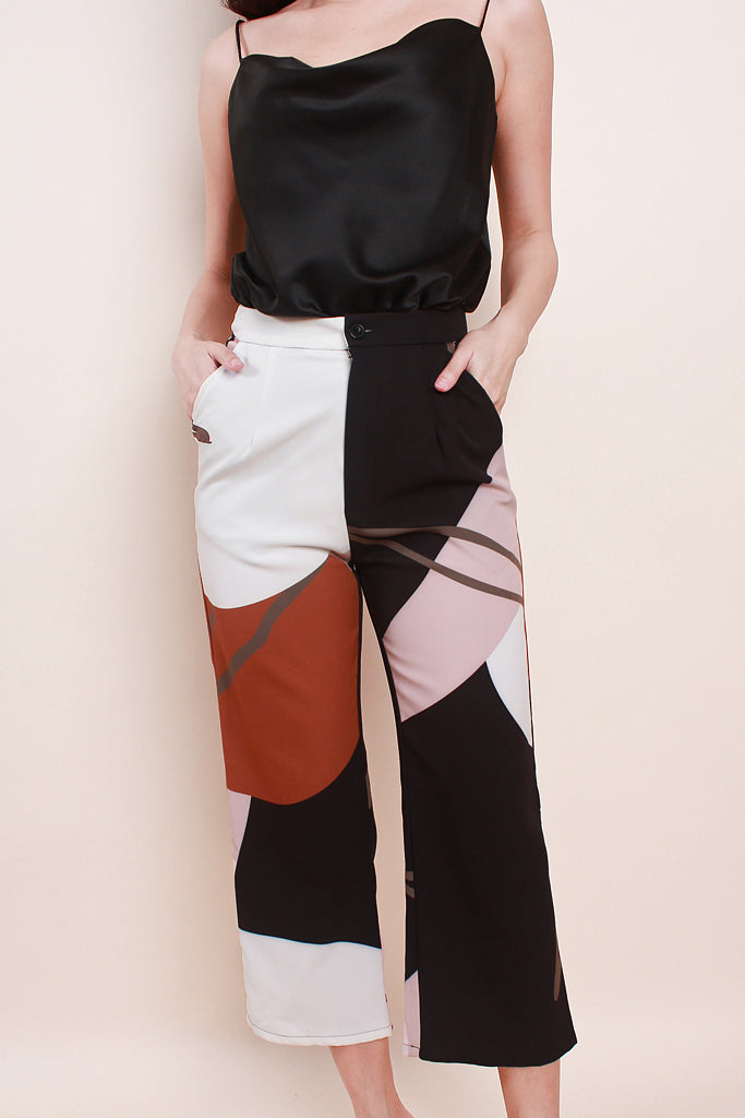 Tessa Abstract Culottes -Black [XS/S/M/L/XL]