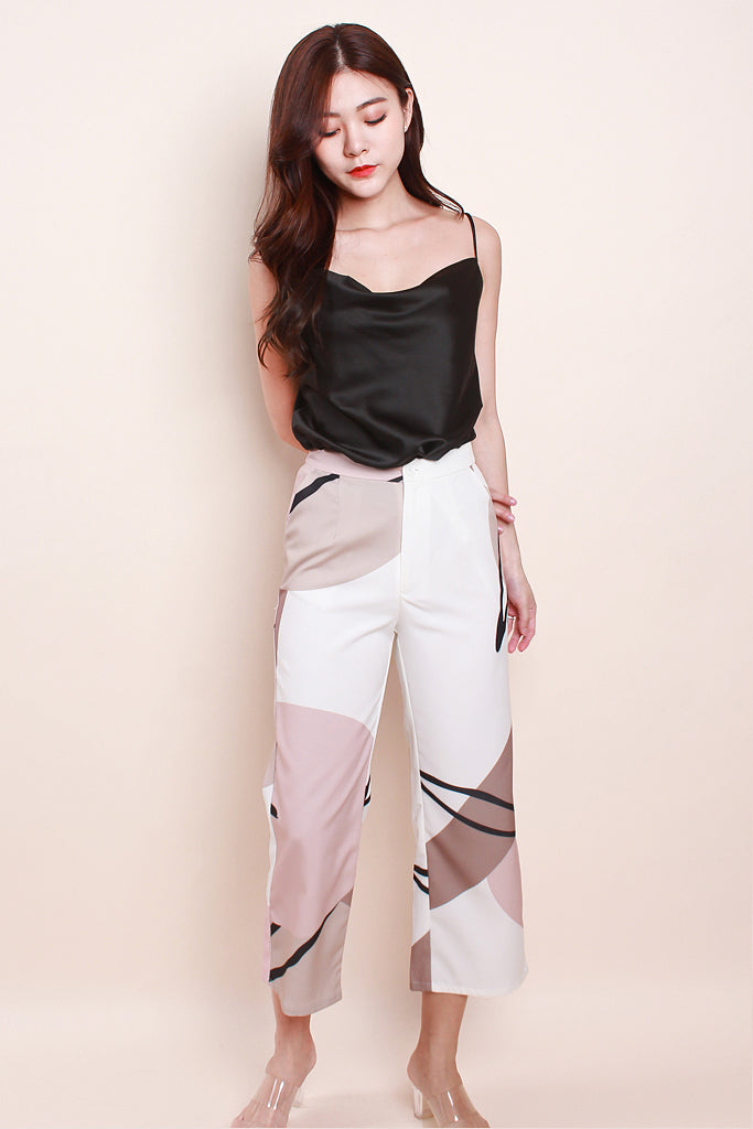 Tessa Abstract Culottes -White [XS/S/M/L/XL]