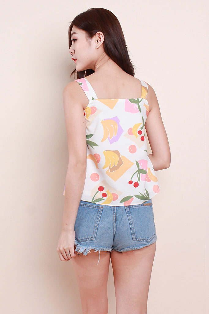 Paige Women 2way Fruity Top - White [XS/S/M/L/XL]