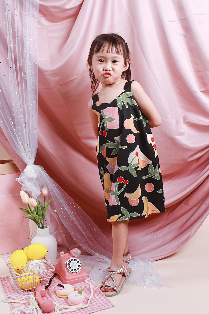 Paige Kids 2way Fruity Dress - Black [18M/2Y/3Y/4Y/5Y]