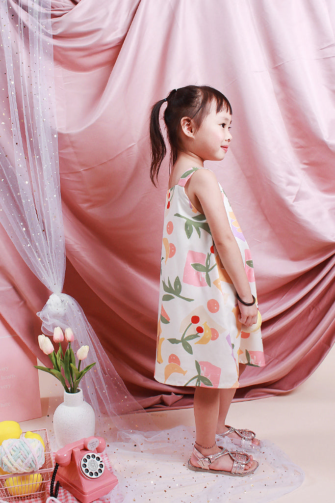 Paige Kids 2way Fruity Dress - White [18M/2Y/3Y/4Y/5Y]