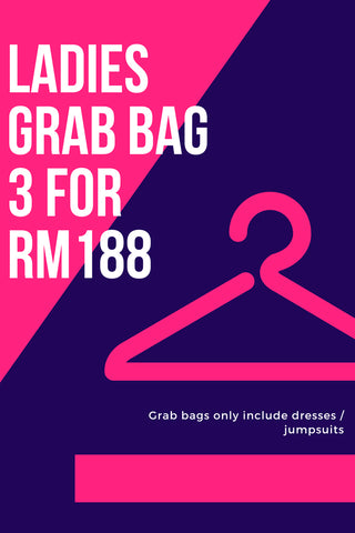 Ladies Grab Bag A: 3 for RM188 [XS/S/M/L/XL]