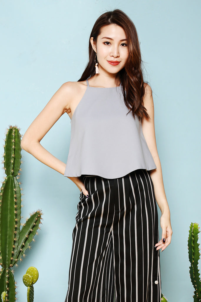Claire Basic Crop Top - Dusty Blue [S/M/L]