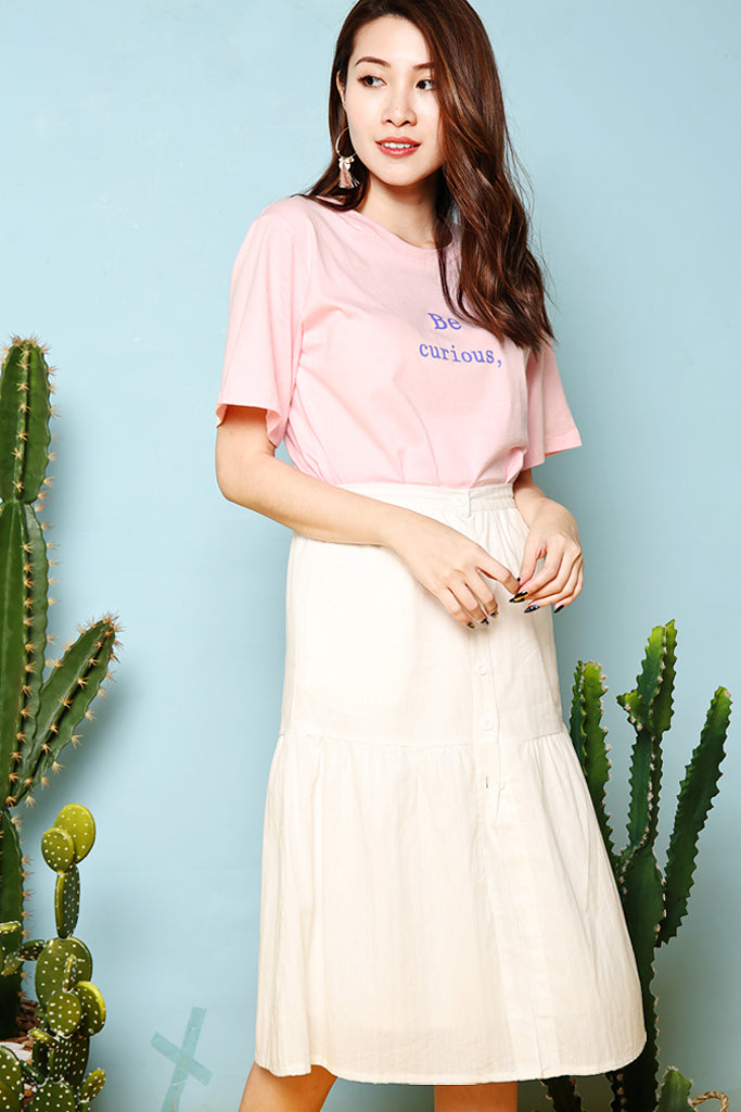 Brenna Button Down Skirt - White [S/M/L/XL]