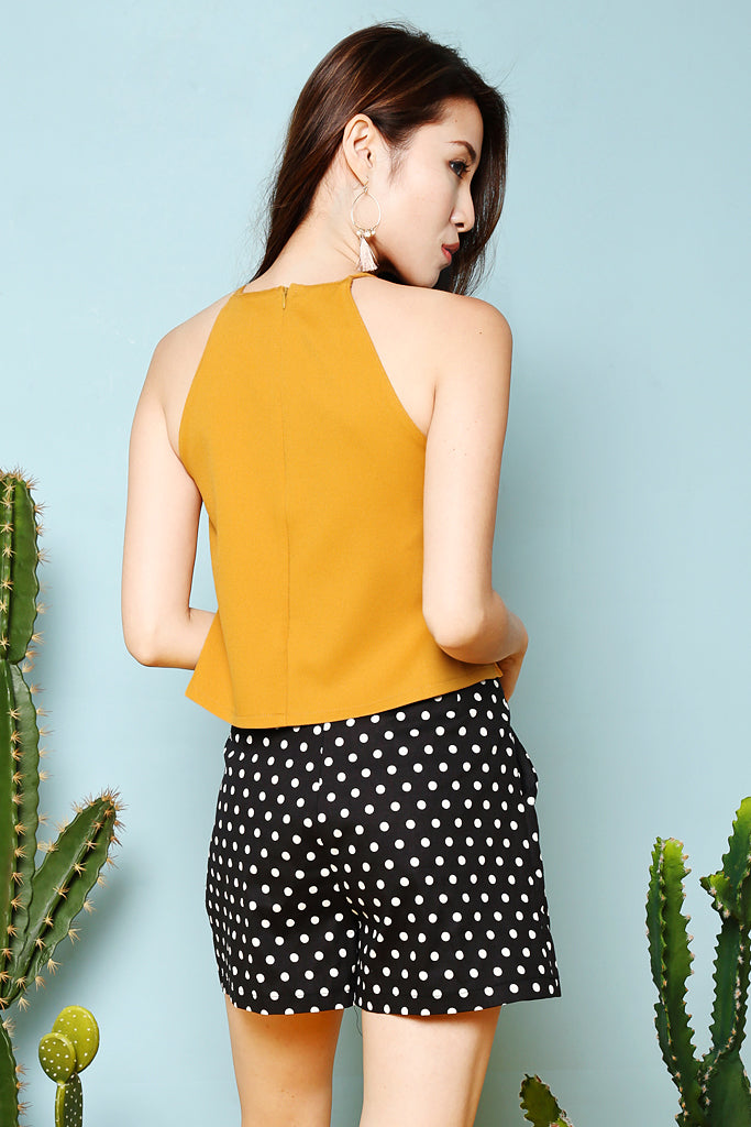 Claire Basic Crop Top - Mustard [S/M/L]
