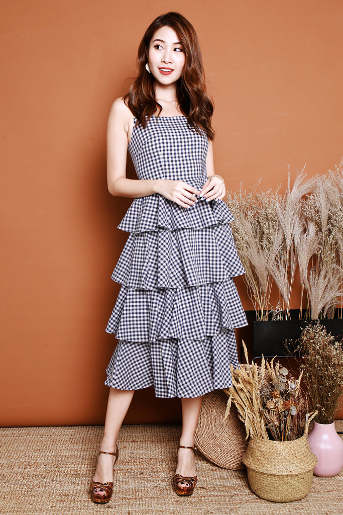 Backorder: Parker Tiered Midi - Gingham [S/M/L/XL]