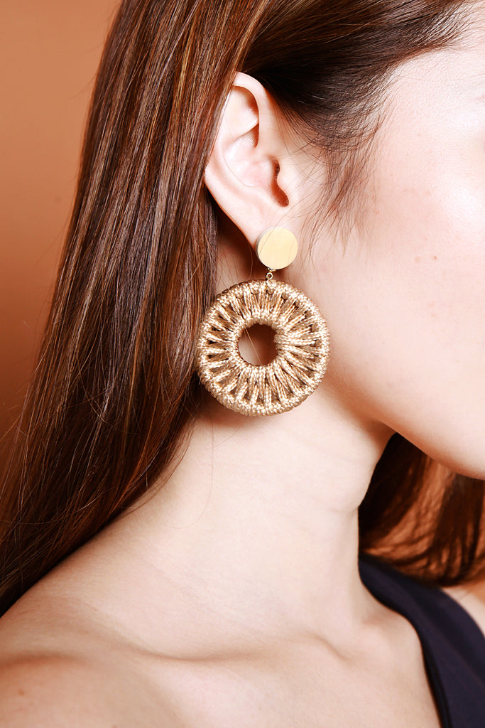 Maya Circle Earrings - Champagne