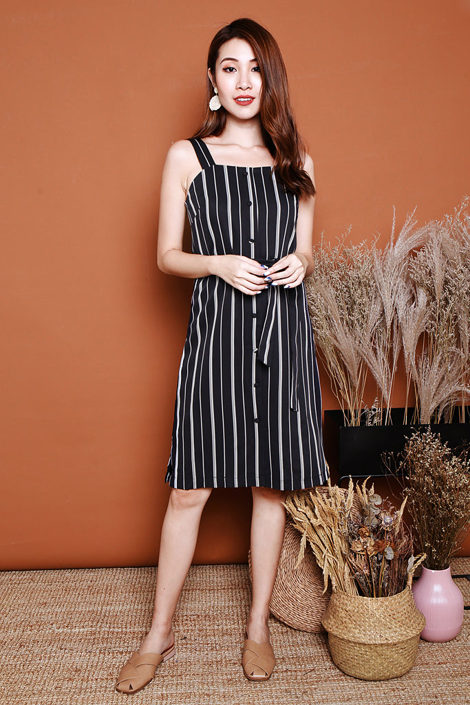 Skylar Striped Button Down Dress - S/M/L