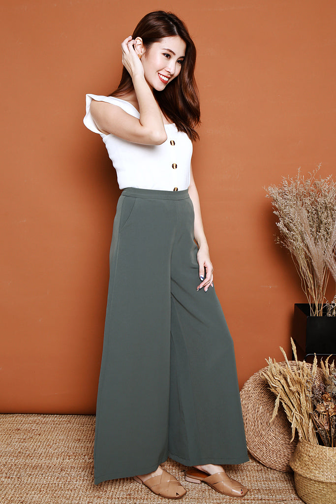 Autumn Palazzo Pants - Sea Salt [S/M/L/XL]
