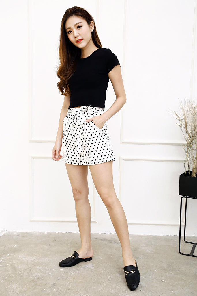 Eva Polka Dots Shorts - White ( S / M / L )