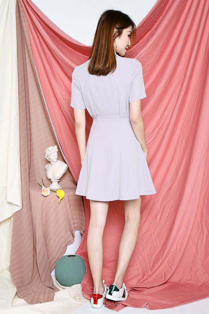 Ruby Tuxedo Dress - Lilac Grey [S/M/L/XL]