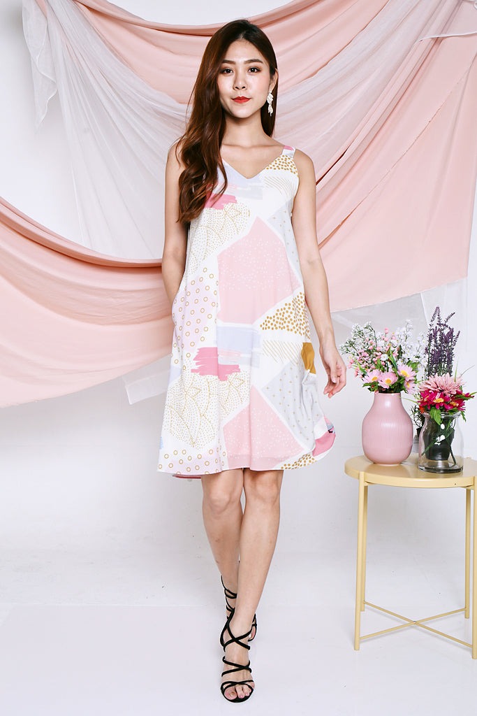Bailey Abstract Printed Dress - [XS/S/M/L]