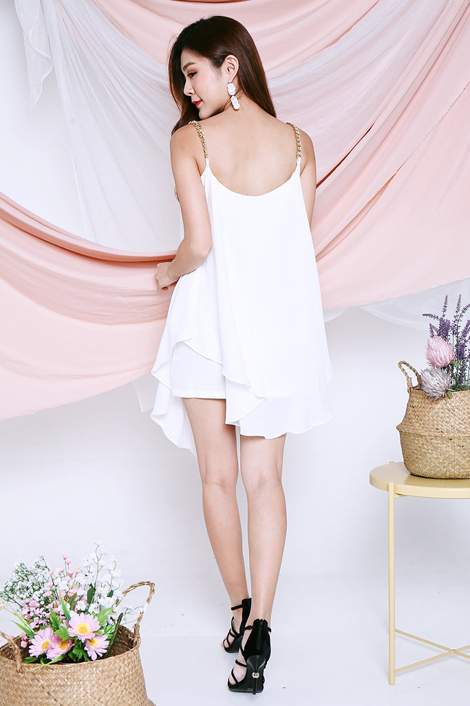 Athena Chain Strap Dress - White [S/M]