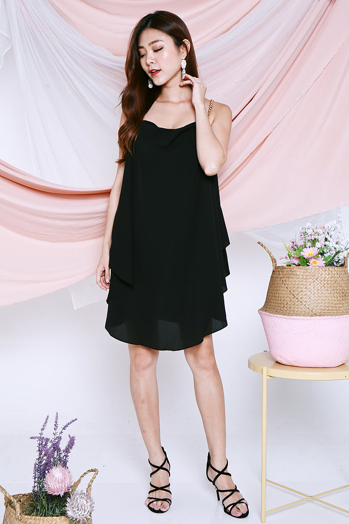 Athena Chain Strap Dress - Black [S/M]