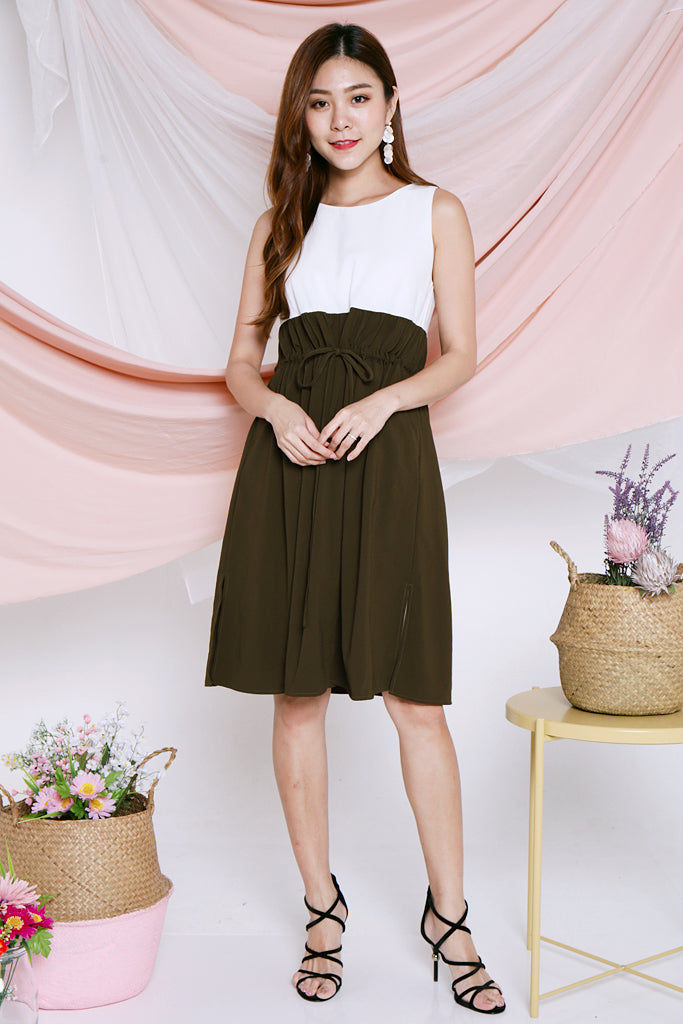 Desiree Paperbag Dress - Army Green [S/M/L/XL]