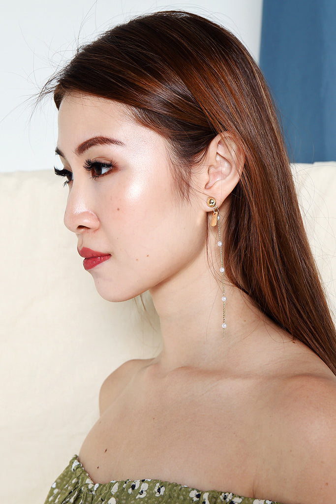 Shine Star x Pearl Teardrop Earrings