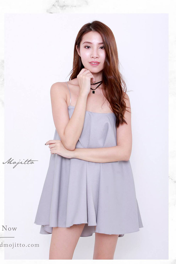 Swing Spag Dress ( Light Grey )