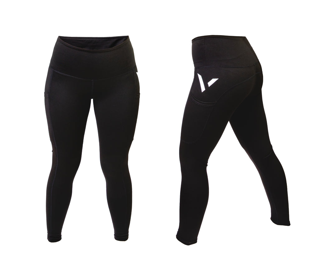 Womens Sport Pocket Leggings Logo