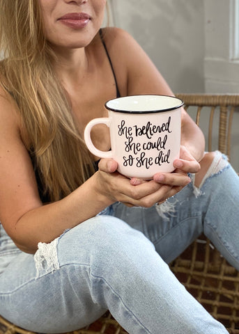 She Believed She Could Camp Fire Mug