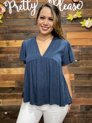 Woven Baby Doll Top