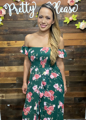 Floral Off the Shoulder Tulip Maxi