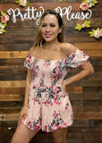 Rose Smocked Romper