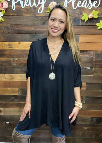 Boxy V-Neck Tunic