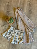 Leopard Thermal Fold-over Shorts