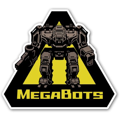 MegaBots Logo Sticker