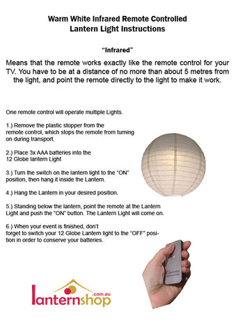 Lanternshop remote control lantern light