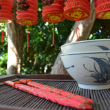 Chinese Chopsticks in red silk bags - 10 Pack