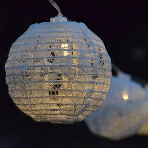 LED Mini White Lace Lantern String Lighting Kit