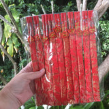 10 pack - Chopsticks in red silk bags