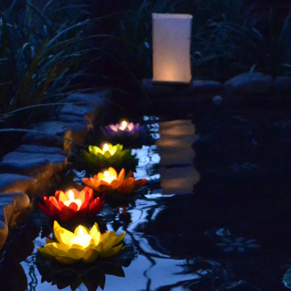 floating lotus candle flowers