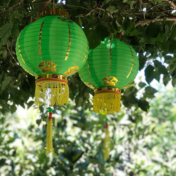 Small Chinese Lanterns (20cm) - pack 2 nylon lanterns
