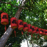 Small Red Chinese Prosperity Lanterns - Pack of 12
