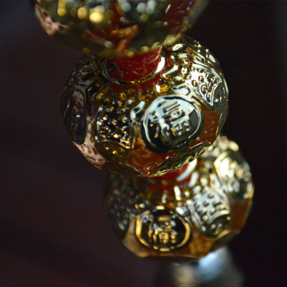 Lucky 5 Gold Lanterns Chinese hanging decoration