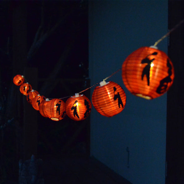 LED Mini Red Chinese Lantern String Lighting Kit