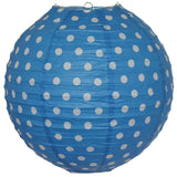 35cm blue and white polka dot paper lantern