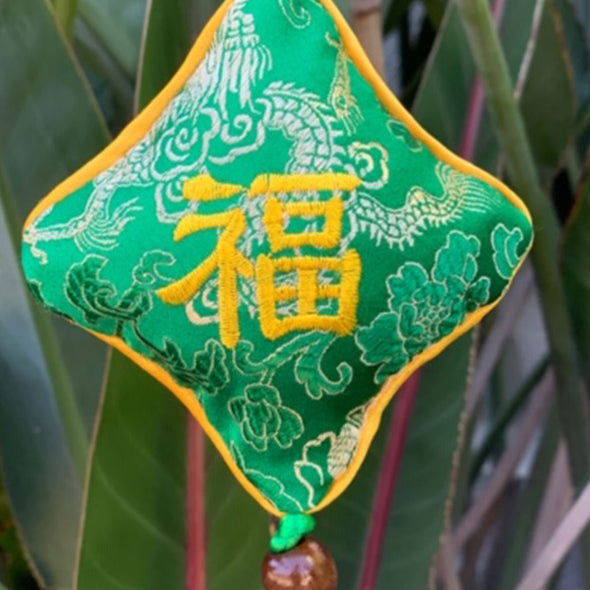 Chinese silk hanging good luck talisman