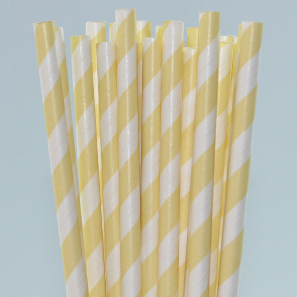 Pineapple Sorbet Stripe Paper Straws Pack of 25