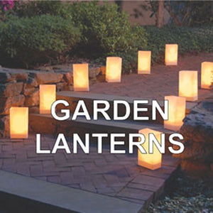 bamboo paper lanterns for gardens and pathways