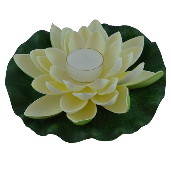 Floating Lotus Flower with candle