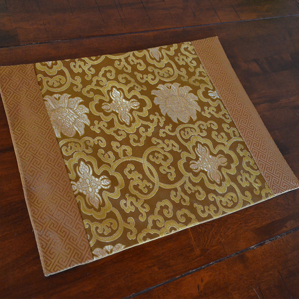 Chinese Gold Silk Table Mat