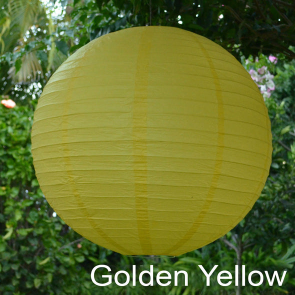 golden yellow paper lantern