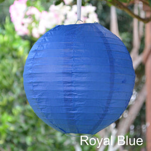 royal blue paper lantern